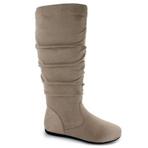 Shoes - Womens Tan Beige Fashion Boots Reg & WIDE FALL